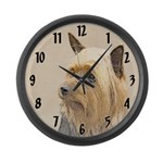 Silky Terrier Large Wall Clock