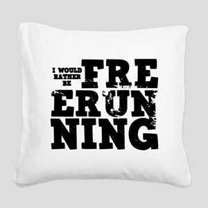 'Free Running' Square Canvas Pillow
