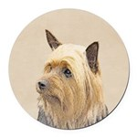 Silky Terrier Round Car Magnet