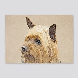 Silky Terrier 5'x7'Area Rug