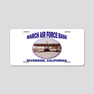 March Air Force Base Aluminum License Plate