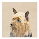 Silky Terrier Square Car Magnet 3