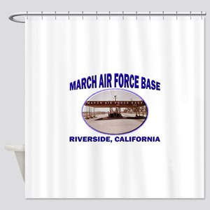 March Air Force Base Shower Curtain