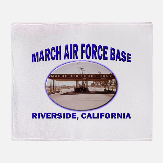 March Air Force Base Throw Blanket