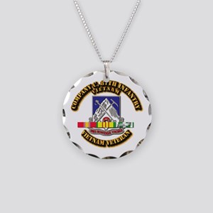 Army - Company C, 87th Infantry Necklace Circle Ch