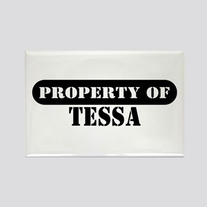 Property of Tessa Rectangle Magnet