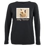 Silky Terrier Plus Size Long Sleeve Tee