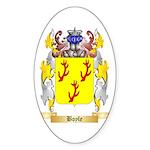 Boyle (Scottish) Sticker (Oval 10 pk)