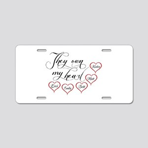 Children They own my heart Aluminum License Plate