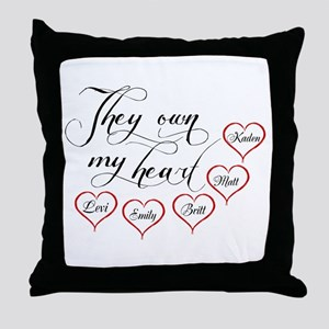 Children They own my heart Throw Pillow