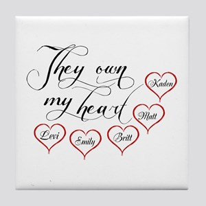 Children They own my heart Tile Coaster