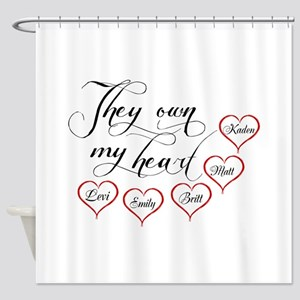 Children They own my heart Shower Curtain