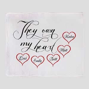 Children They own my heart Throw Blanket