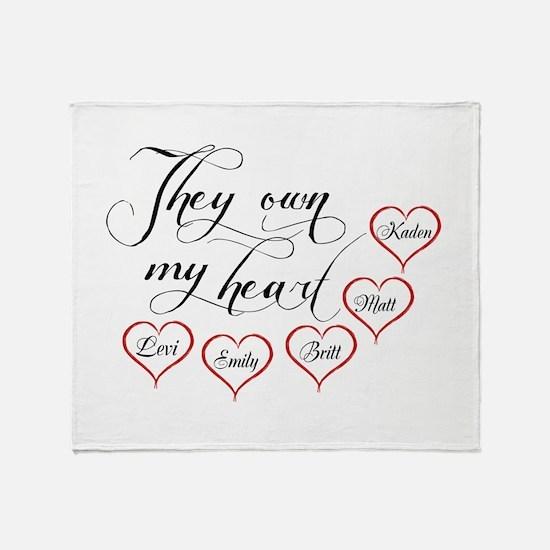 Children They own my heart Throw Blanket