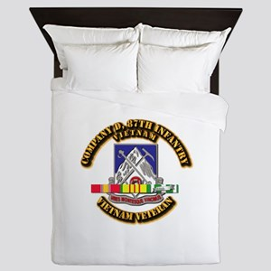 Army - Company D, 87th Infantry Queen Duvet