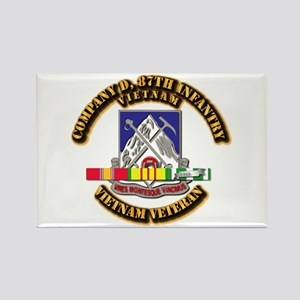 Army - Company D, 87th Infantry Rectangle Magnet