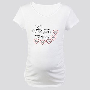 Children They own my heart Maternity T-Shirt