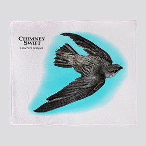 Chimney Swift Throw Blanket