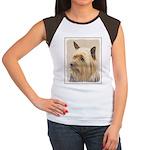 Silky Terrier Junior's Cap Sleeve T-Shirt