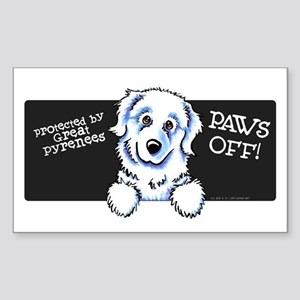 Great Pyrenees PAWS OFF Sticker