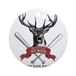 Stags Logo Ornament (Round)