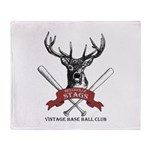Stags Logo Throw Blanket