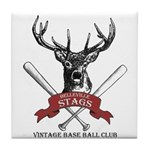 Stags Logo Tile Coaster