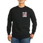 Button Long Sleeve Dark T-Shirt