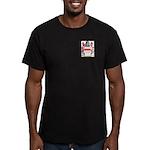 Button Men's Fitted T-Shirt (dark)
