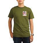 Button Organic Men's T-Shirt (dark)