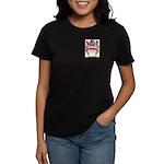 Button Women's Dark T-Shirt
