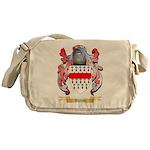 Button Messenger Bag