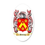Butting Oval Car Magnet