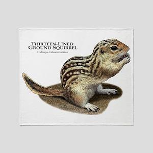 Thirteen-Lined Ground Squirrel Throw Blanket