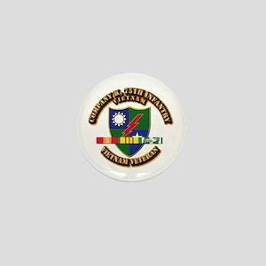 Army - Company K, 75th Infantry w SVC Ribbons Mini