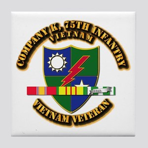 Army - Company K, 75th Infantry w SVC Ribbons Tile