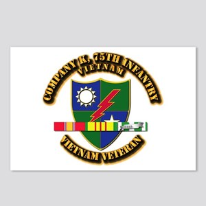 Army - Company K, 75th Infantry w SVC Ribbons Post