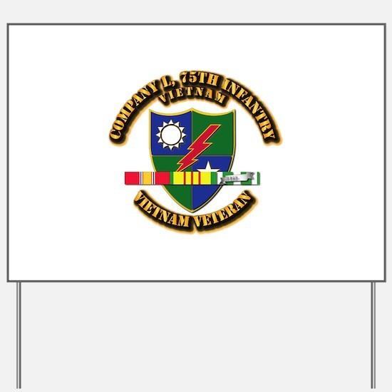 Army - Company L, 75th Infantry w SVC Ribbons Yard