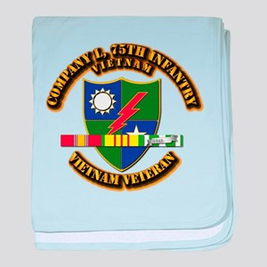 Army - Company L, 75th Infantry w SVC Ribbons baby