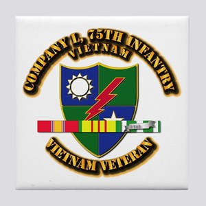 Army - Company L, 75th Infantry w SVC Ribbons Tile