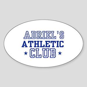 Adriel Oval Sticker