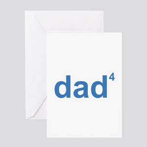 Dad Of Four Greeting Card