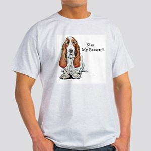 Kiss My Bassett!! Ash Grey T-Shirt