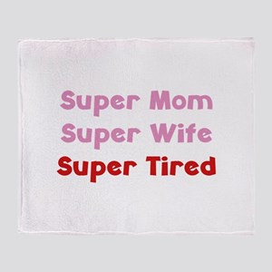 Super Mom Super Wife Super Tired Stadium Blanket