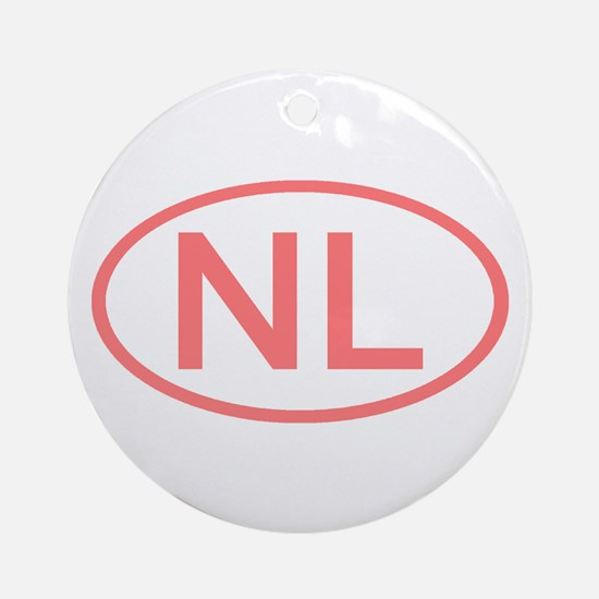 Netherlands - NL Oval Ornament (Round)