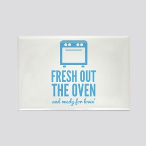 Fresh Out The Oven Rectangle Magnet