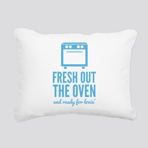 Fresh Out The Oven Rectangular Canvas Pillow