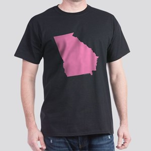 Georgia State Shape Outline Dark T-Shirt