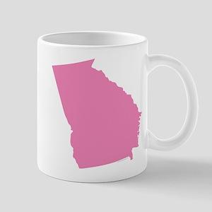 Georgia State Shape Outline 11 oz Ceramic Mug
