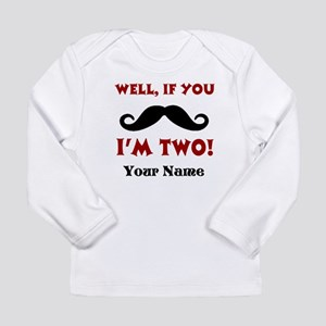 2nd Birthday Mustache Long Sleeve T-Shirt